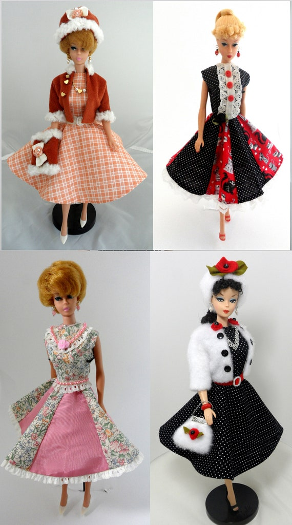 Doll clothes for 11.5 inch dolls A set of 3 handmade dresses for 11.5 inch Curvy dolls Adorable fashionable dresses different styles for dolls