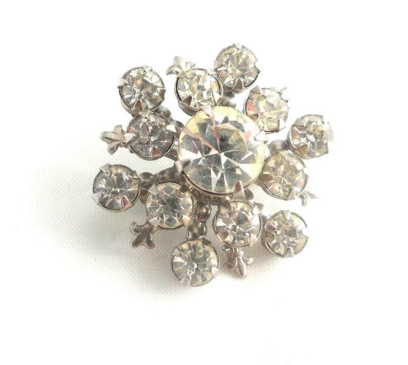 1814aa9c129da Snowflake Pin Fleur De Lis Starburst Brooch Rhinestone Scatter Pins Mid  Century Wedding Something Old For Bride Small Winter Brooch Tie Pin