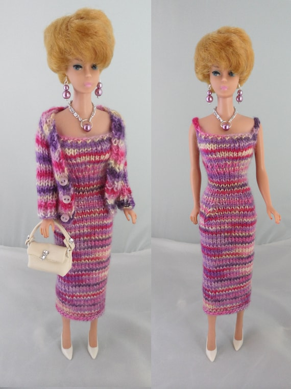 "11.5/"" Doll Fashion Dress Hot Pink Maxi Dress For 11.5 inches Doll"