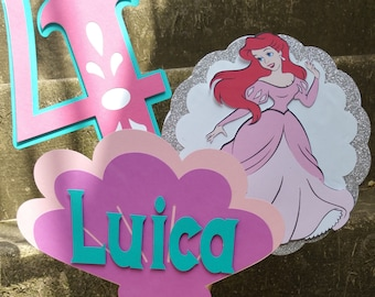 Disney Princess Center Pieces, Princess Party Decorations