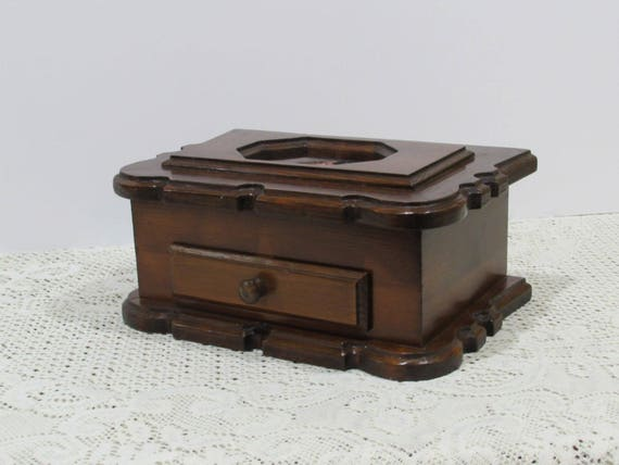 Vintage Wooden Jewelry Box Picture Frame Jewelry Box Etsy