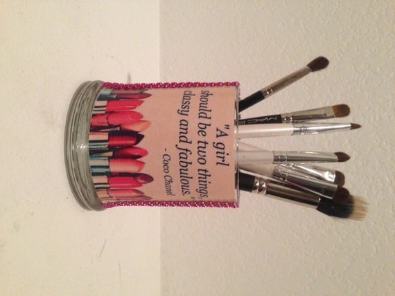 Items Similar To Coco Chanel Inspired Makeup Brush Holders