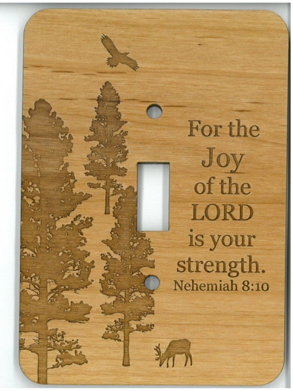 Light Switch Plate Cover Nehemiah 810 For The Joy Of The Etsy