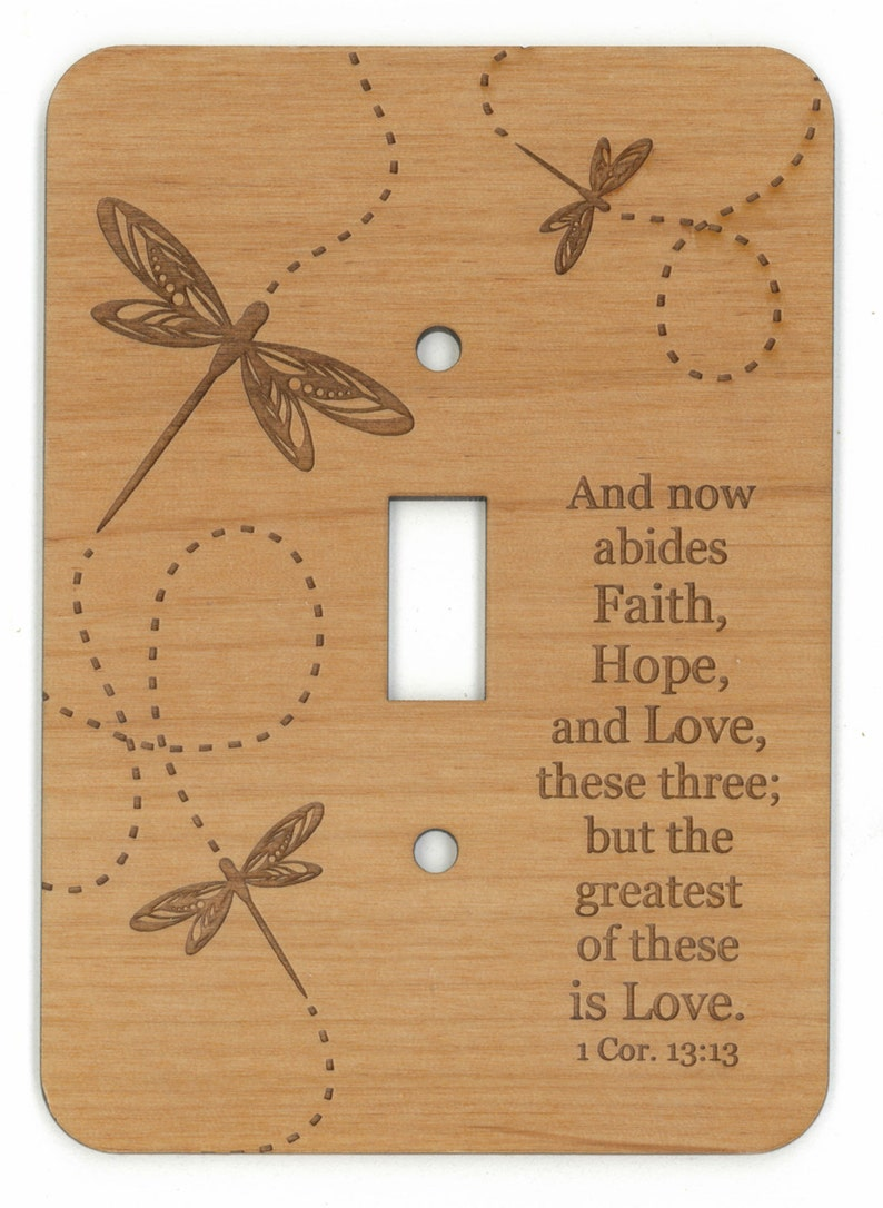 Light Switch Cover Lightswitch Wall Decor Sign Christian Bible Etsy