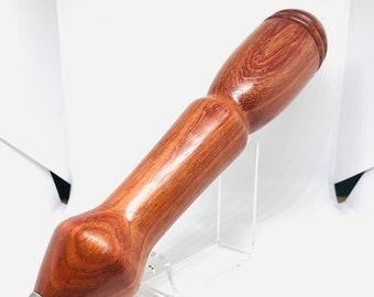 Hand made   African Padauk   wood   Sleek and unique   tap handle