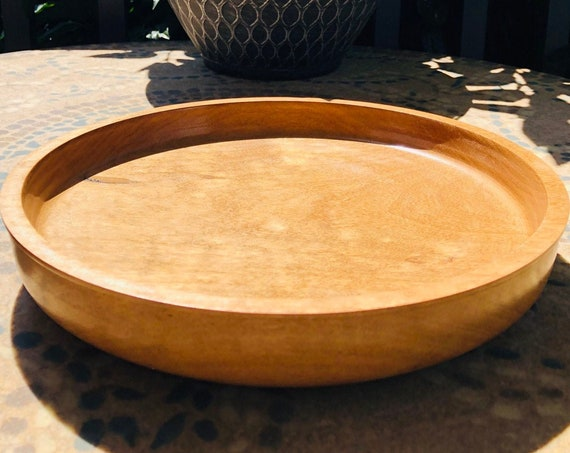 Large | handmade | unique | wood plater | decorative | dish