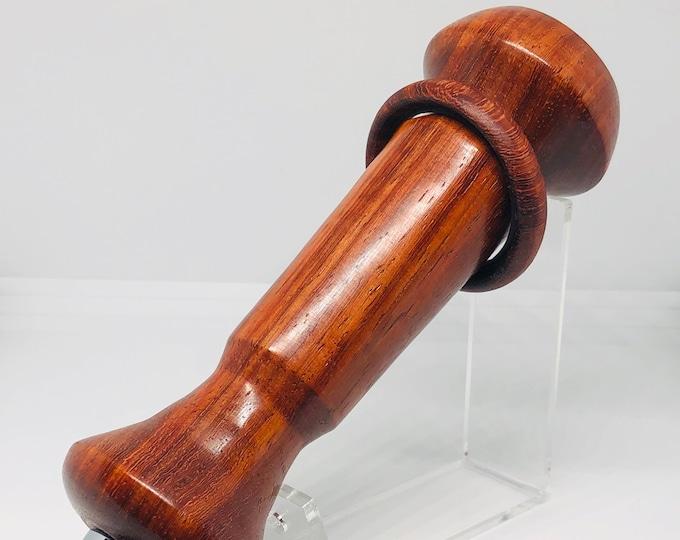 Hand made | African Padauk captive ring | standard| beer | tap handle.