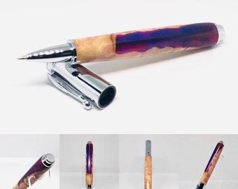 Handmade | one of a kind | wood acrylic hybrid | rollerball | magnetic cap | custom pen