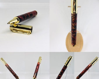 Hand made | pinecone | acrylic | roller ball | one of a kind | Gryffindor colors | Potter pen