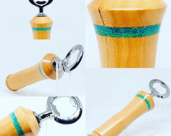 Hand made | spalted beech | malachit | tap handle