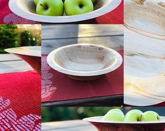 Hand made | Ambrosia maple | large | wood | bowl