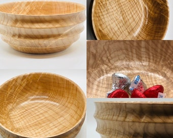Hand made | curly maple | wood | light weight |  dish