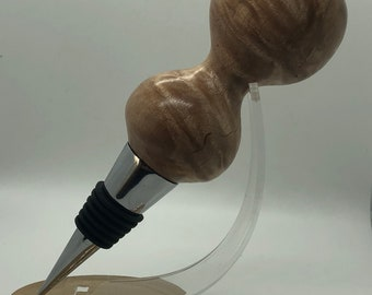 Hand made | large | beech | burl | wine | bottle stopper