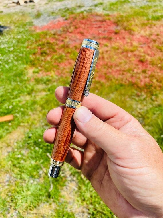 Handmade Hawaiian spring roller ball wood pen