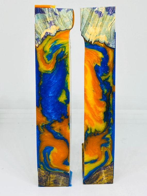 Almumalite Resin hybrid dyed stabilized Maple Burl Pen Blanks