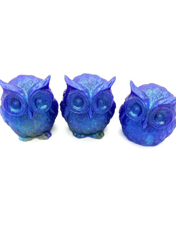 "Diamond infused Owl cover minder from ""Blue Bells"" series."