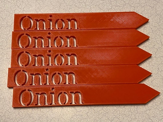 """3D printed garden stakes """"Red Onion"""""""
