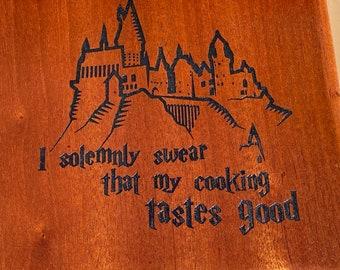 Solid wood, laser engraved, kitchen trivet