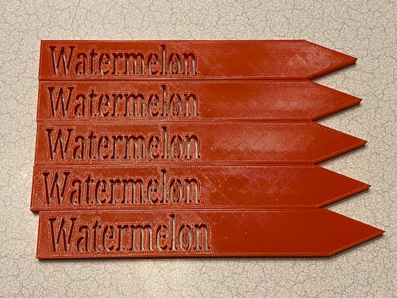 """3D printed garden stakes """"Watermelon"""""""