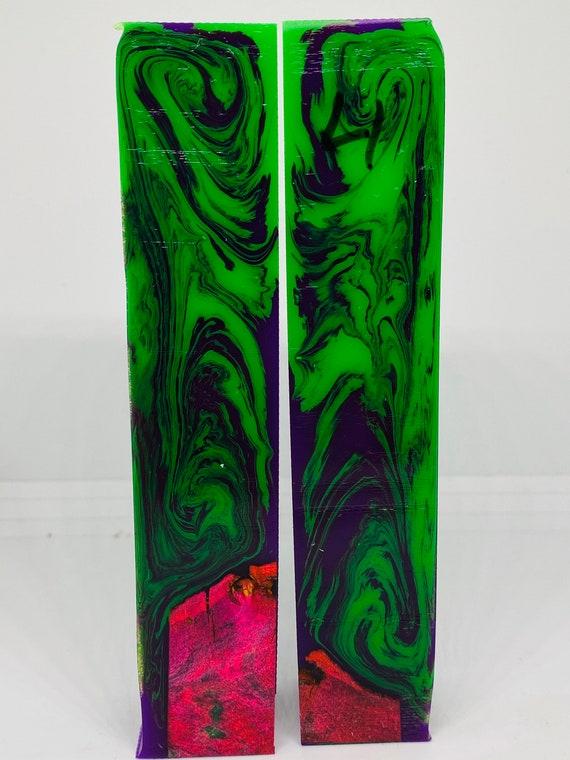Alumalite Epoxy Hybrid Dyed Stabilized Maple Burl Pen Blank