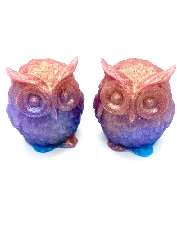 """Diamond infused Owl cover minders from """"Mountain memories"""" series."""