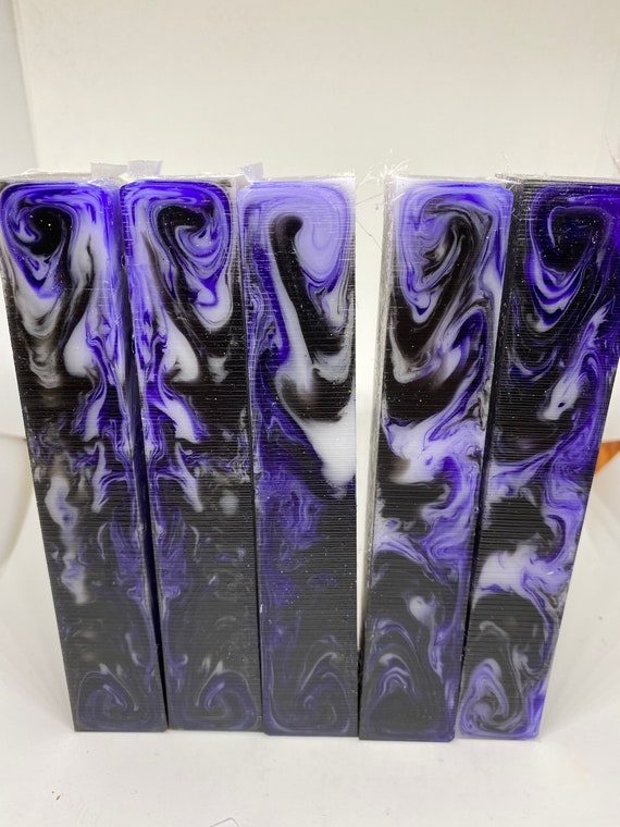"Alumilite pen blanks ""Purple Reign"""