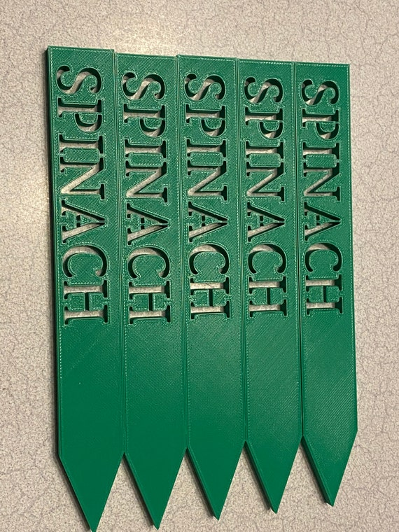 """3D printed garden stakes """"Spinach"""""""