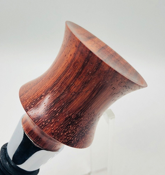 "Hand made | African Padauk | wood | Bottle Stopper | ""Curves"""