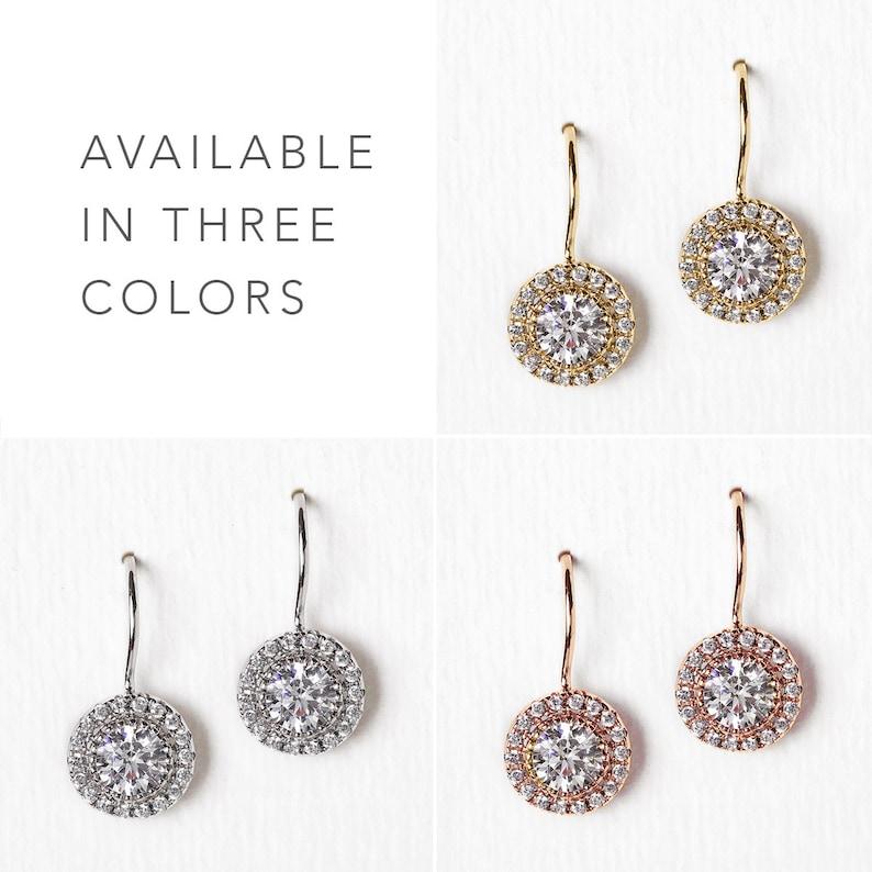 E300 Dainty Drop Earrings Wedding Earrings Bridal Jewelry Silver Earrings