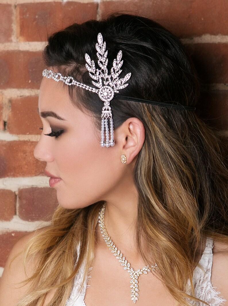 Gatsby Headpiece Gatsby Wedding Wedding Hair Accessories  e8b5b328c91
