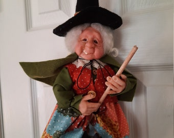 """Witch Doll/Handmade Witch Doll/Halloween Witch/""""Lucy"""""""