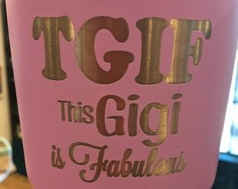 Fabulous Grandma Insulated Tumbler, Grandparent Mug, Grandma Cup, Grandmother Gift, Gift from Grandkid, Personalized Stainless Steel Tumbler