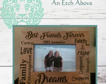 Photo Frame for Best Friend, Family, Co-Worker, Retirement, Coach, Day Care Provider - includes FREE CUSTOM engraving and DESIGN