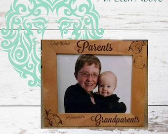 Promoting Parents to Grandparents - Gift to announce new baby - Baby Shower Gift - Grandparent Gift