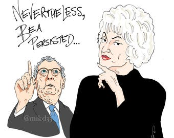 Nevertheless Bea Persisted art print