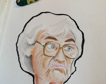 Sophia Petrillo Evil Eye soft enamel pin with original watercolor illustration