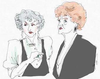 Bea & Angela Art Print