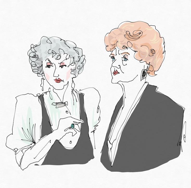 Bea & Angela Art Print image 0