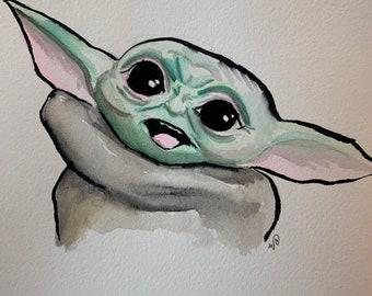 The Child original watercolor
