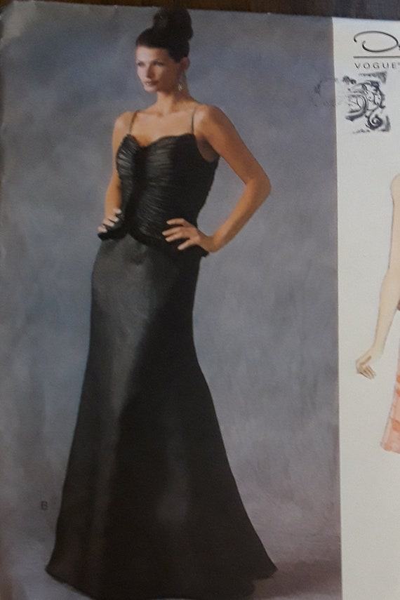 Vintage Vogue 2584 Oscar De La Renta Evening Gown Pattern Etsy