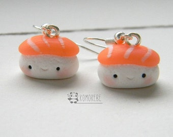 Sushi, Nigiri salmon, salmon, earrings, Earrings