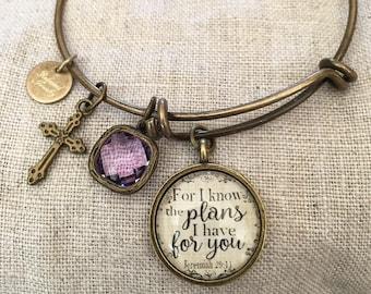 Jeremiah 29:11 Bangle Bracelet