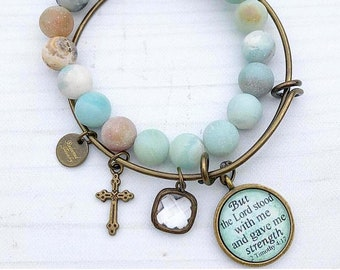 But the Lord Stood With Me Bangle Bracelet Set