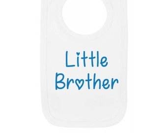 Little Brother Baby Bib - Newborn Baby Gift - 100% Cotton Baby Keepsake