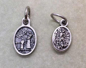 angels - bracelet sized holy medal - 2 styles, guardian angel w pray for us or double sided guardian angel/St Michael the archangel