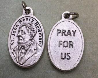 St. John Henry Newman silver oxide holy medal - Catholic Convert & Saint - English author, cardinal. London Oratory, theologian, apologetics