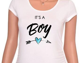 It's A Boy Maternity Shirt, Maternity Shirts, Maternity, Maternity Top, Pregnancy Top, Pregnancy Shirt, Pregnancy Gift, Baby Shower Gift