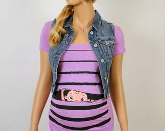 fb3a49aa028a9 Pregnancy Clothing, Funny Maternity Shirt, Maternity Clothes, Maternity  Tshirt, Peekaboo, peek-a-boo, peek a boo, baby peeking