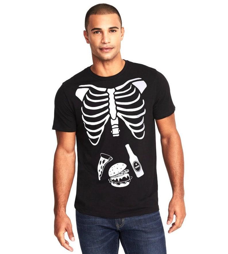 3a53560f74e9e Halloween Skeleton Shirt Halloween Costume Tshirt Skeleton | Etsy