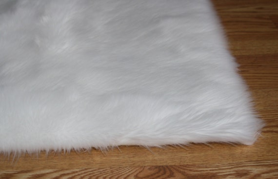 4 X 6 Pure White Soft Faux Fur Rug Non Slip Anti Etsy